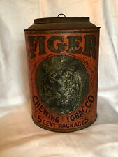 Tiger chewing Tobacco canister