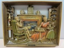 """Burwood Products Co Wall Plaque Reading"""" At The Hearth Circa 1749"""""""
