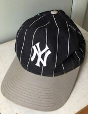 Vintage 90s New York Yankees MLB Pin Stripe Starter Adjustable Snapback Hat