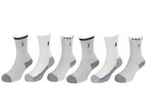 Polo Ralph Lauren Toddler/Little/Big Boy's 6-Pairs Sport Crew Socks
