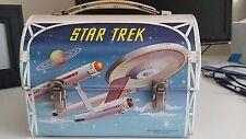 VINTAGE 1968 STAR TREK ALLLADIN LUNCHBOX METAL VERY GOOD CONDITION