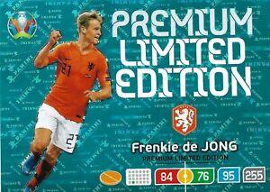 PANINI ADRENALYN XL EURO 2020 FRENKIE DE JONG PREMIUM LIMITED EDITION