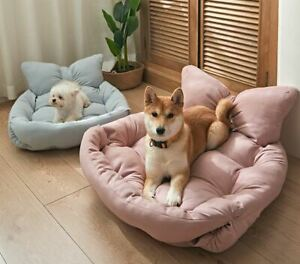 Pet Dog Cat Sofa Bed Cushion Mat House Warm Soft Indoor Bed Kitty Puppy S,M,L