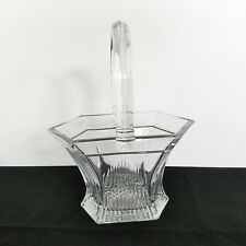 Pretty Little Pressed Glass Basket Bagley/sowerby/davidson