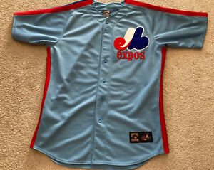 Montreal Expos Majestic Cooperstown Collection Jersey Large Vintage Retro Road