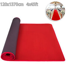 1,2x13,7M Passatoia Rossa Tappeto Nuziale Chiesa Negozio Studio Spessore 6,5mm