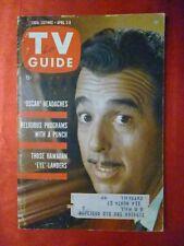 New York St April2 TV GUIDE 1960 ERNIE FORD Oscar Night Pippa Scott Amanda Blake