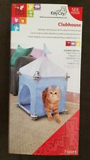KITTY CITY CLUBHOUSE CAT Condo Furniture Hideaway Hide 'N' Seek Toy House Bed
