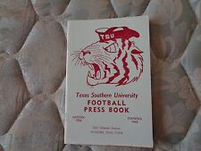 1966 TEXAS SOUTHERN UNIVERSITY TIGERS FOOTBALL MEDIA GUIDE Press Book College AD