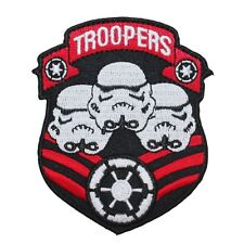 "Storm ""Troopers"" Empire Crest Badge Star Wars Embroidered Iron On Applique Patch"