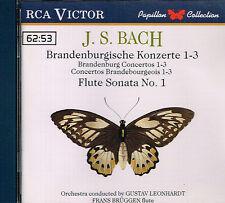 CD album: Bach: Brandenburgische Konzerte 1-3. Gustav Leonhardt. RCA Victor. I