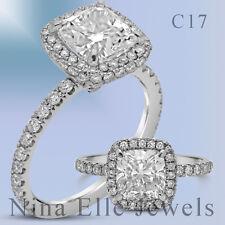 Ring H Si1 Clean 1.70Ctw Cushion Cut Diamond Engagement