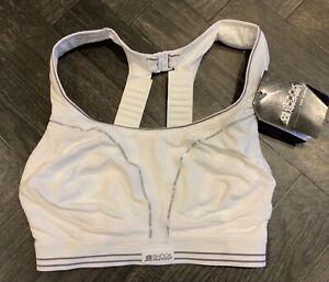 SHOCK ABSORBER RUN SPORTS BRA - White - Size 32D - BNWT - Running Bra