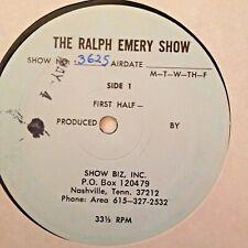 RADIO SHOW: RALPH EMERY SHOW 5/4/81 CHARLY McCLAIN CO-HOST; SYLVIA, MOE BANDY