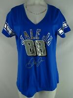 #88 Dale Earnhardt Jr. Nascar Women's Blue Short Sleeve V-Neck