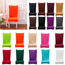 Removable Thin Solid Elastic Chair Cover Banquet Seat Cover Home Hotel Home Deco
