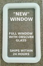 NEW White Trailer Camper Motorhome RV Entry - Entrance Door Window