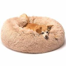 Pet Poodle Lab Dog Cat Calming Bed Round Nest Warm Soft Plush Sleeping Bag Comfy