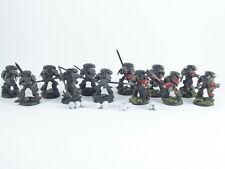 12 Mann Strike Squad der Grey Knights - teilweise bemalt -