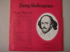 "Living Shakespeare, SR II-39/40, ""KING RICHARD II"" Vintage 1963 LP COLLECTIBLE"