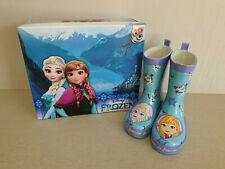 BNIB Girls Sz 6 Quality Frozen Brand Smart Blue Purple Print Gumboots