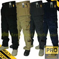 Work Trouser Trade Multi Tool Pocket Tough Pro Pants Triple Stitched Workwear