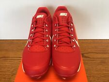 NIKE AIR CLIPPER '17 METAL BASEBALL CLEATS RED/WHITE MENS SIZE 14 NIB NEW!