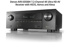 New ListingDenon Avr-X3500H 7.2-Channel 4K Ultra Hd Av Receiver with Heos, Atmos and Alexa