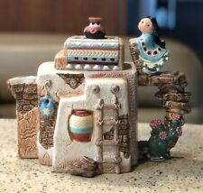 Enesco Friends of the Feather Pueblo Southwest Karen Hahn Teapot 1996