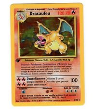 1st Ed Edition FRENCH Charizard DRACAUFEU 4/102 Holo Ultra Rare Pokemon Card