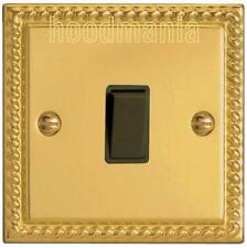 Georgian Brass Rope Single 2 way Light switch 6 amp