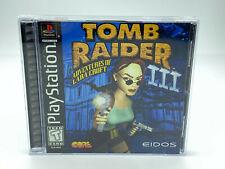 Tomb Raider Iii: Adventures of Lara Croft (PlayStation 1 Ps1) *Cib Black Label*