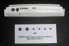 1968 and 1969 DODGE CHARGER GAUGE FACES for 1/25 scale REVELL KITS