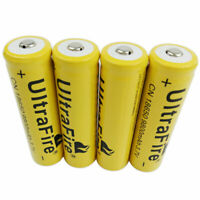 4X 3.7V 18650 Battery Li-ion 9800mAh Rechargeable for Flashlight RC Torch Light