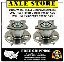 2 Wheel Hub & Bearing Assembly 1993 - 2002 Toyota Corolla NO ABS 1 Year Warranty