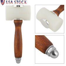 Wooden Handle Leather Cutting Stamping Hammer Carving Mallet Nylon Craft Tools