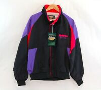 vintage Split Fire Spark Plugs Windbreaker Jacket Neon Dunbrooke 90s M L XL 2XL
