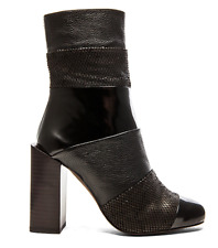 Black Ankle Boots - Jeffrey Campbell Pezzi Boot in Black Combo