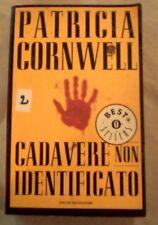 """DALLA MIA COLLEZIONE PATRICIA CORNWELL  : """" CADAVERE NON IDENTIFICATO""""  2001"""