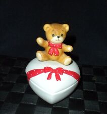 1980 Enesco Lucy & Me Two Pieced Trinket Box Valentine's Figurine