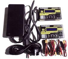 2x Turnigy Accucel 6 80 W 10 A 6s cargador de equilibrio lipo nimh PB + fuente de alimentación del Reino Unido