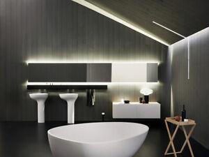 Agape Drop ACER1099FZ freestanding washbasin in Cristalplant