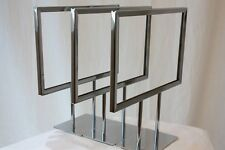 3 NEW CHRISTMAS METAL FRAME DISPLAY SALE SIGNS COUNTER RETAIL STORE CASE RACK