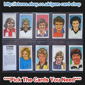 THE SUN SOCCERCARDS 1978-79 (VG) (CARD 601 TO 700) *PLEASE CHOOSE CARDS*