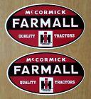 "2 McCORMICK FARMALL I H HARVESTER 5"" x 3"" VINYL DECAL STICKERS & FREE USA FLAG"