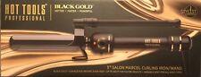 """Hot Tools Black Gold Titanium Micro-Shine Marcel Curling Iron 1"""" Dual Voltage"""