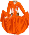 TMS Multi Satin Skirt Ruffle Top Belly Dance Gypsy Club Tribal Jupe Robe Costume