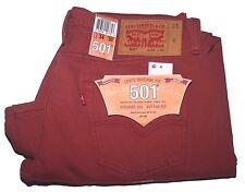 Levi's 501 Original Fit Button Fly Men's Colored Jeans Marsala 501-2223 Sz 34/30
