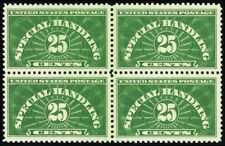 QE4, Mint XF NH 25¢ Block of Four Stamps Cat $150.00 - Stuart Katz