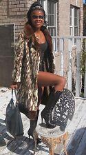 Designer Multicolor Sable brown beige white mink Fur Coat Jacket stroller S 0-8